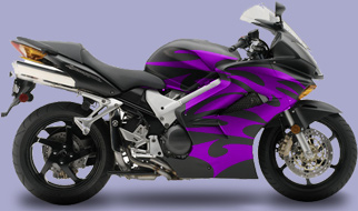 Motorcycle Graphic 4 Tribal Flames