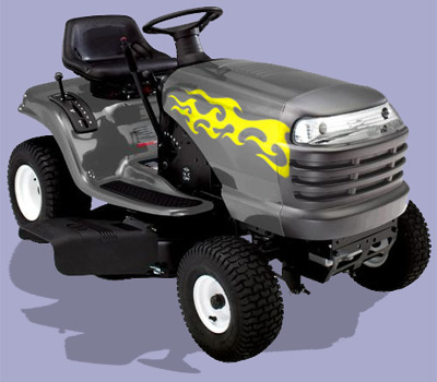 Riding Mower Decal 1 Flames