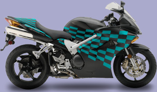 Motorcycle Graphic 8 Checkered