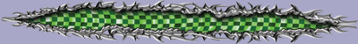Torn Metal - Checkered Flag Green