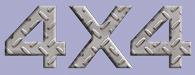 4x4 Diamond Plate Decal