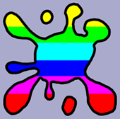 Rainbow Splat Decal