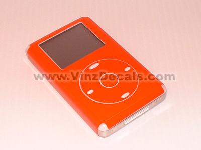 4TH GEN IPOD Skin (Orange-Red)