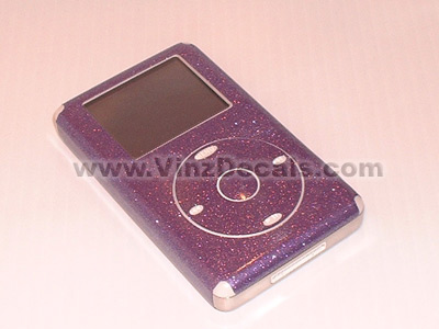 4TH GEN IPOD Skin (Purple Glitter)