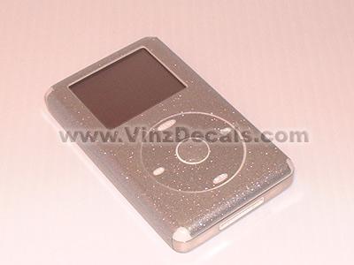 4TH GEN IPOD Skin (Silver Glitter)