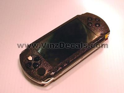 Sony PSP Skin (Black Glitter)