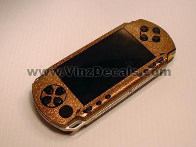 Sony PSP Skin (Gold Glitter)