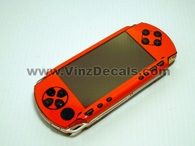 Sony PSP Skin (Orange-Red)