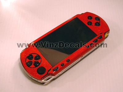 Sony PSP Skin (Red Glitter)