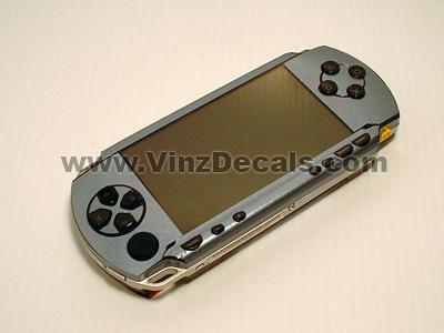 Sony PSP Skin (Silver-Blue Metallic)