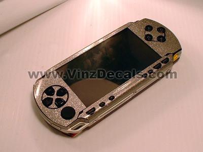 Sony PSP Skin (Silver Glitter)
