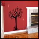 Vinyl Wall Decor - Thin Swirl Tree