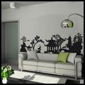 Vinyl Wall Decor - Asian Village