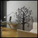 Vinyl Wall Decor - Swirl Tree