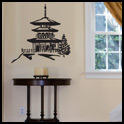 Vinyl Wall Decor - Pagoda