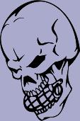 Grenade Skull 96 Decal