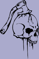 Hatchet Skull 95 Decal