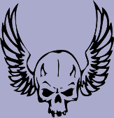 Winged Skull 77 Decal