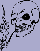 Smoking Skull 75 Decal