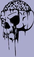 Brainy Skull 70 Decal