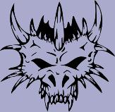 Horned Skull 67 Decal
