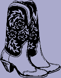 Cowboy Boots Decal 4