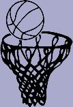 Sports Decal 5 - Basketball and Hoop