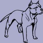 Dog Breed Decal - Pitbull